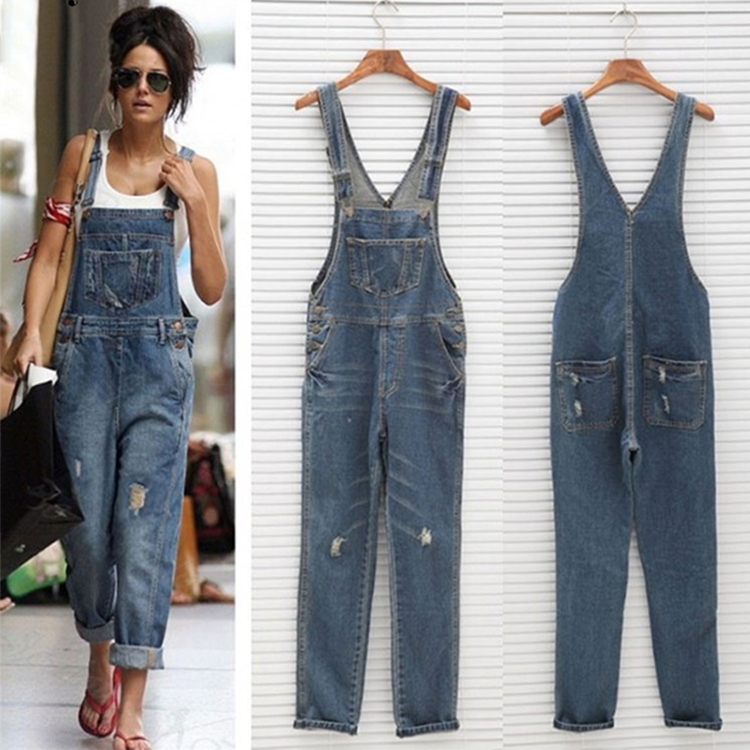 Online Buy Wholesale ripped sexy blue jean rompers from China ...