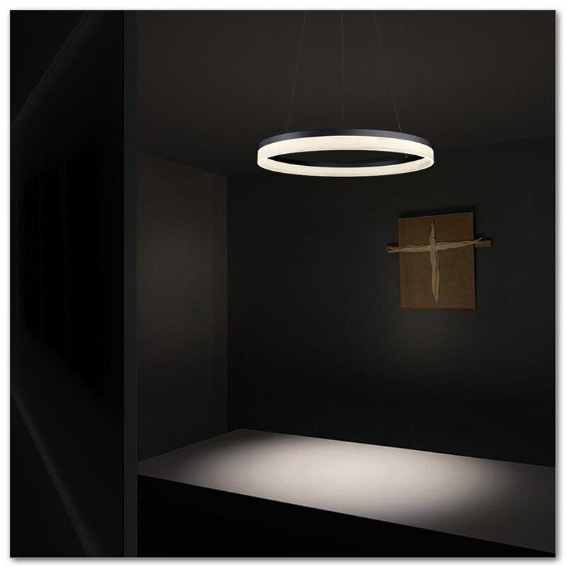 Single-layer circular chandelier, acrylic pendant lamp, AC90-265V 20cm sales<br><br>Aliexpress