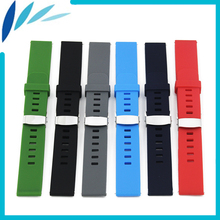 Silicone Rubber Watch Band 20mm 22mm for Diesel Hidden Clasp Strap Quick Release Wrist Loop Belt Bracelet Black Blue Red Green