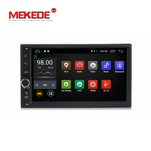 HD 1024X600 Android 7.1 Quad Core 16GB Flash Universal Double 2 din 2Din Car dvd player Stereo GPS Navigation Radio DDR3 4G Wifi(China)