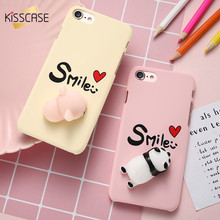 KISSCASE Case For iPhone 6 6s Plus 7 7 Plus Phone Cases 3D Squishy Cute Panda Piggy PC Phone Cover For iPhone 7 7 Plus 6 6s Plus(China)