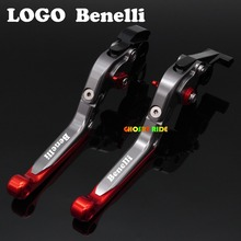With Logo(Benelli ) Red+Titanium CNC New Adjustable Motorcycle Brake Clutch Levers For Benelli TNT1130 TNT 1130 TRE K899 1130 Tr(China)