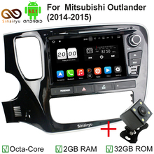 8 core Android 6.0 Car DVD Player for Mitsubishi Outlander 2014 2015 with 2G RAM 32G ROM 4G Wifi Blueooth DVD Radio RDS GPS Ma