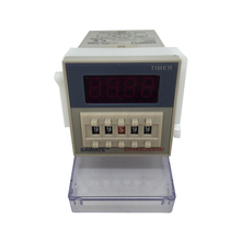 CE DH48S-1Z 0.01S-99H99M LED Display Programmable Digital Counter Relay AC220V 50/60Hz With Socket Base(China)