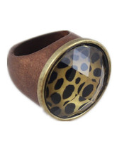 Restore Ancient  Leopard Wood Ring For Men And Women