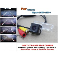 Rear View Camera For Citroen Elysee 2011~2014 Trajectory Intelligent Car Reverse Tracks CCD HD Night Vision