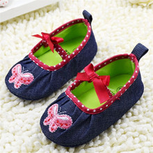 Cute cowboy embroidered baby shoes soft bottom 1865