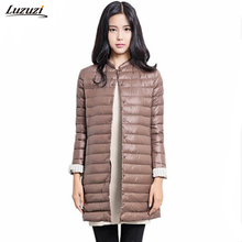 1PC Thin Down Jacket Winter Coat Women Winter Coat Women Long Coats Outerwear Parka Chaquetas Mujer Manteau Femme Z009(Hong Kong,China)