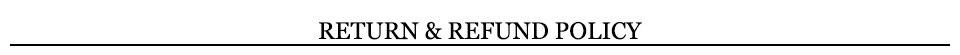 5 ReturnRefund Policy