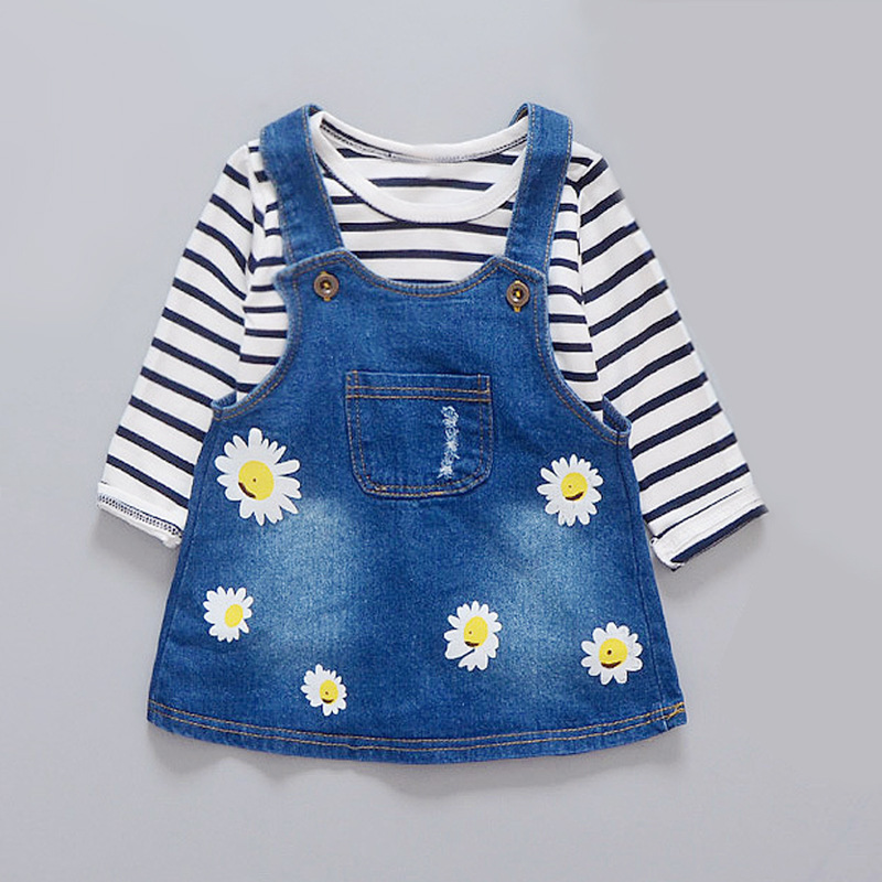 Baby Girls Denim jeans Set Suit Kids Clothing Infant Clothing Casual Baby Girl Clothing Set Toddler Girl Clothing<br><br>Aliexpress