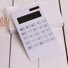 2016 Hot sale Creative Slim Portable mini 12 digital calculator Solar Energy crystal keyboard Dual power supply reken machine