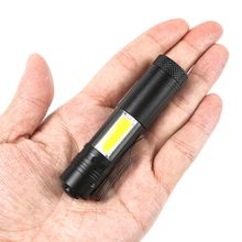 Super Bright CREE Q5 2000 Lumen LED Flashlight Torch Lamp 4 Modes COB Mini Penlight AA/14500 Outdoor Camping Hiking