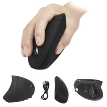 New 2.4G Nano Vertical Ergonomic Optical Mouse 4 Adjustable DPI Levels 800/1200/2000/3200dPi 6 Buttons for pc computer #R179T#