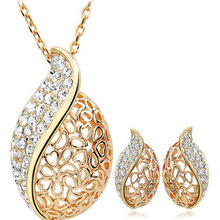 Ol hollow love miss you Earrings necklace jewelry sets Classic Wedding Dress for lover