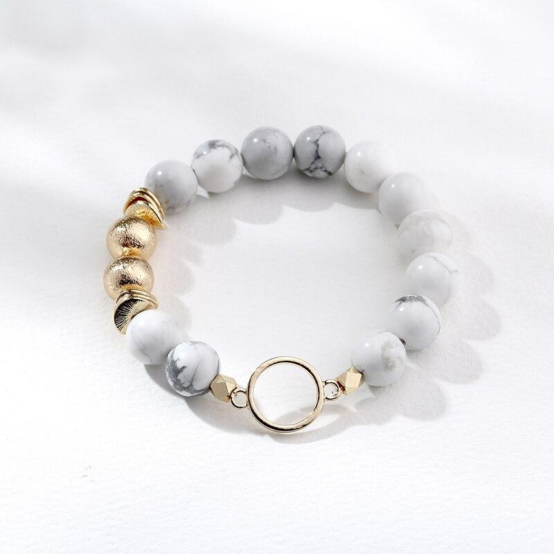 Howlite /& Druzy Stacked Bracelet Set