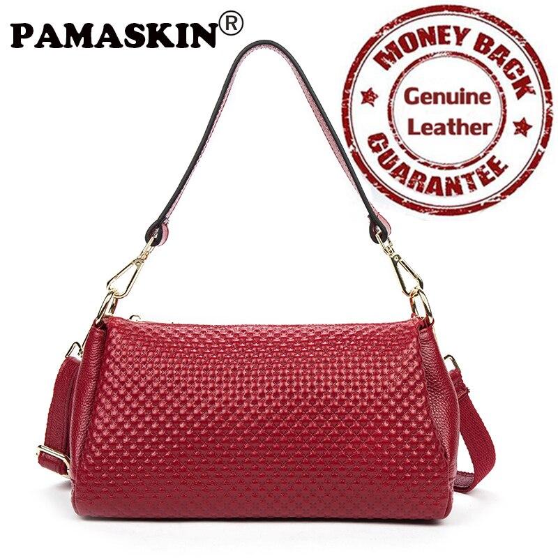 2017 Newest Brand Designer Multi-function Casual Feminine Handbag Premium Real Leather Embossing Practical Women Messenger Bags<br>