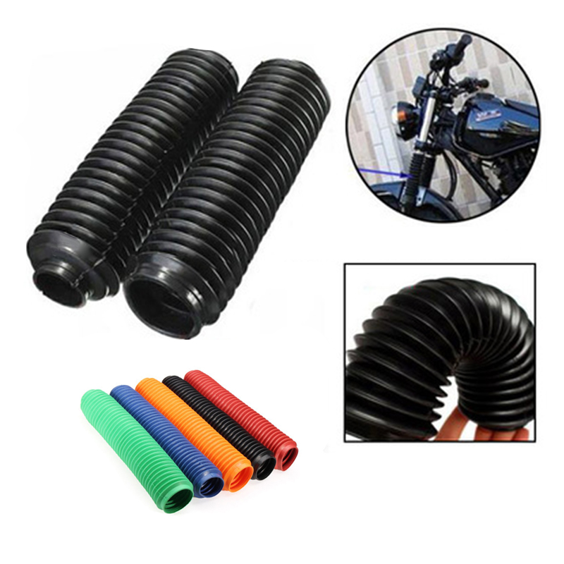 1Pair 360MM Fork Dust Covers Gaiters Boots Fit Motorcycle Dirt Bike On//Off Road