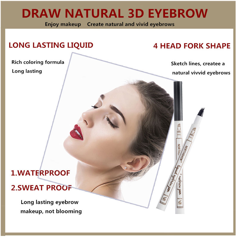 Hot Sale Microblading Tattoo Eyebrow Pencils Waterproof Fork Tip