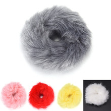 1PCS Artificial Rabbit Fur Ball Elastic Hair Rope Rings Ties Bands Ponytail Holders Girls Hairband Headband Hair Accessories