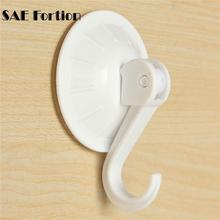 SAE Fortion 1pcs Removable Vacuum Magic Plastic Sucker Bathroom Kitchen Wall Strong Suction Cup Hook Hangers Accessories XN439(China)