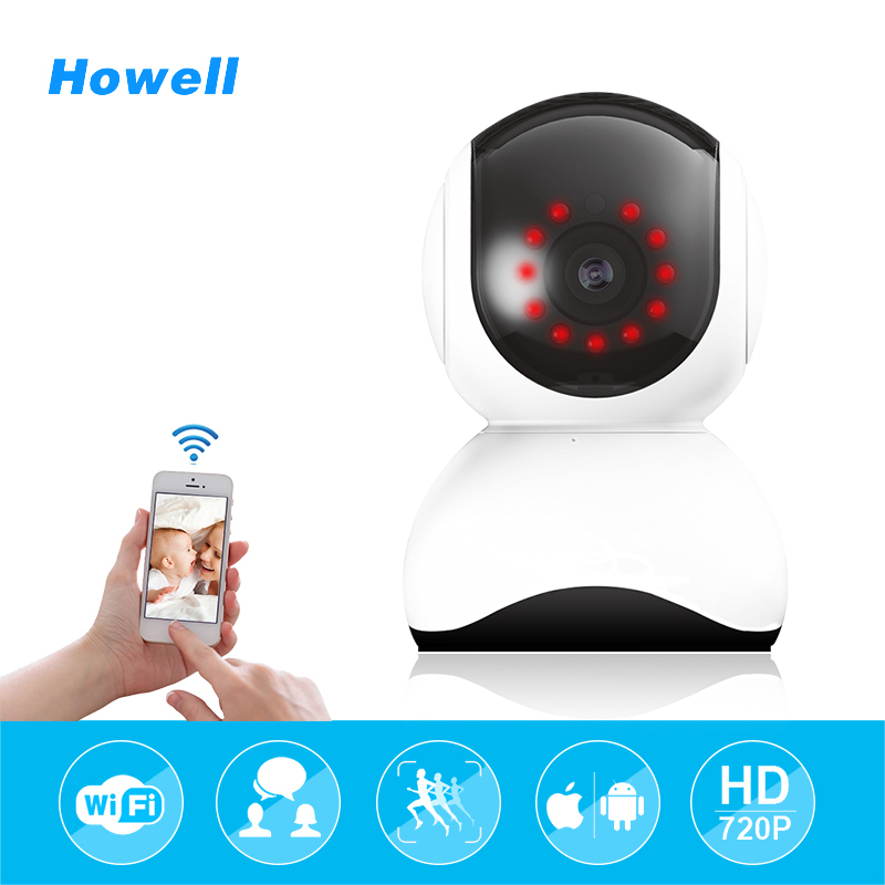 Howell Home Security Camera HD 720P CCTV Baby Monitor Wireless Fake Camera Mini wifi Surveillance 15m Infrared Local Alarm Cam<br>