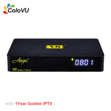 Digital Satellite Receiver FreeSat V8 Angel + 1Year Golden IPTV for Europe/Indian Android DVB S/S2T2/C Combo support CCCAM