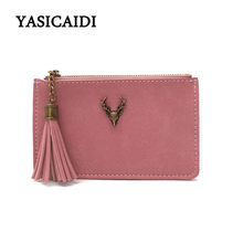 Tassel Wallet Women Purse Fashion Slim Wallets Women Long Purses High Quality PU Leather Bag Ladise Wallet Girl Coin Purse New(China)
