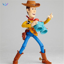 New Toy Story Woody Series NO. 010 Sci-Fi Revoltech Special PVC Action Figure Collectible Toys AC96