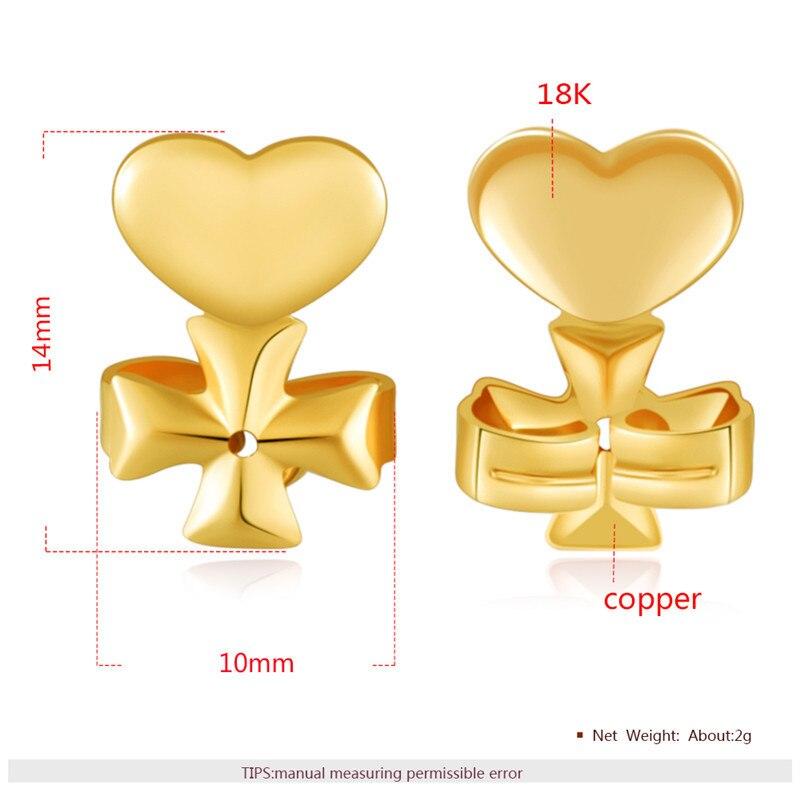 Ms Betti heart clover crown earring listers back set11