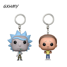 GXHMY Rick and Morty Vinyl Action Figures Children Toy Keychain