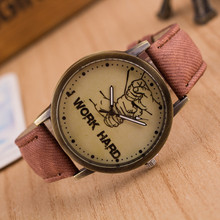 Fabulous new hot sale luxury fashion faux-leather variety color simulated quartz watch Brand factory prices Reloj Relogio W109