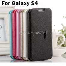 High Quality S4 Flip Cover Case For Samsung Galaxy S4 i9500 Luxury PU Leather Phone Bag With Stand Design Function Hot Sale
