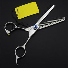 New Upscale professional 6 inch Japan 440c hair scissors makeup haircut shears 50% Thinning scissor barber hairdressing scissors