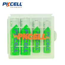 PKCELL 2Pcs 2200Mah 1.2V NiMH AA Rechargeable Battery +2Pcs 850mah AAA Rechargeable Batteries Bateria Baterias +1pcs Battery box
