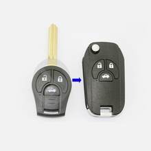 Flip Folding Remote Key Shell Case For Nissan Maxima Sentra Versa 3 Button