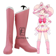 Anime Sailor Moon Sailor Chibi Moon Girls Pink Boots Cosplay Shoes Custom Made