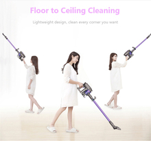 Dibea 2in1 Cordless Handheld Vacuum Cleaner Upright Stick Machine with Mop Carpet Hardwood Floor Cyclonic Filtration Cleaner F6(China)