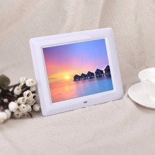 "In stock! 7"" LCD HD High Resolution Digital Picture Photo Frame MP3/4 Alarm + Remote US Plug Black / White Color Newest"