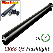Hot Sale CREE Q5 LED flashlight tactical flashlight for 3*AA Torch Long Light Baseball Bat Shape self defense 3 Mode ZK69(China)