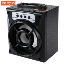 MS-132BT Wireless Bluetooth Square Speaker Portable Subwoofer Support FM Radio LED Shinning TF/Micro SD Card Music Playing Box