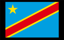 Flag of the Democratic Republic of the Congo National Flag Banner 21*14cm No flagpole  Z5096