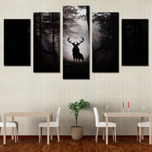 5 piece anime canvas art painting HD print deer wall decorations living room deer dark night modern canvas art works ny-6123