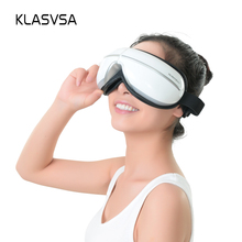 KLASVSA Wireless Foldable Air Pressure Eye Massager Vibration Heating Voice Music Therapy Dispel Eye Bags Health Care Relaxation(China)
