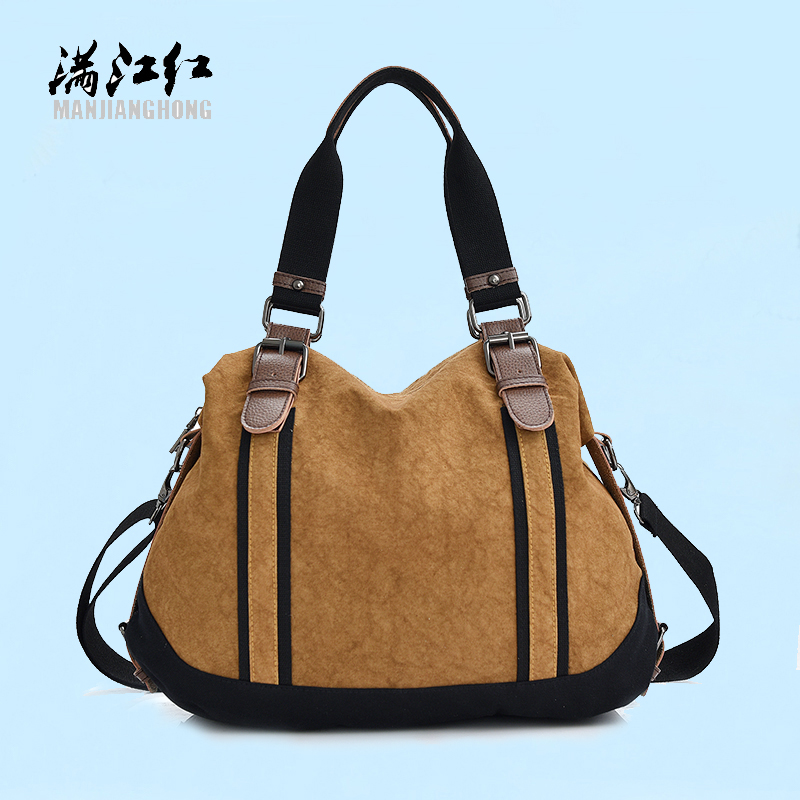 2017 Fashion Canvas Bag Women Handbags Large Capacity lady Messenger Bags High Quality splicing Panelled crossbody Shoulder bags<br><br>Aliexpress