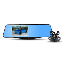 "HS950A Car Rearview Mirror DVR Allwinner A20 Car Camcorder + Rearview Camera - 170 Degree View Angle 5"" HD Screen 1080P Dash Cam"