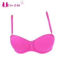 Mierside 20344A girl Children Bralette solid bras pink/green/rose/white 28A 30A 32A A B cotton bra high quality C005(China)