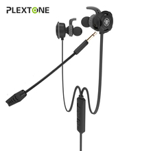 Plextone 3.5mm Gaming Headset with Microphone Earphone Gamer PC Headphhone Stereo Gaming Headphone For ps4 New Version Xbox One(China)