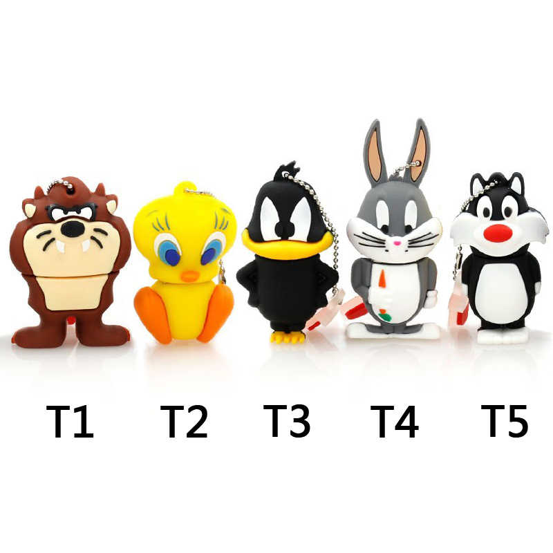 Amthin pendrive animal 4G dafy 8G Duck 16G Bugs Bunny Crow Lion cat USB флэш-накопитель U диск Creativo Pendrive Memory Stick подарок
