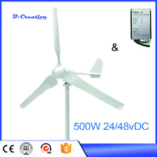 2017 Sale Time-limited Wind Power Generator Mini Wind Power Turbine 500w 24v For Homes+waterproof Controller(China)