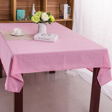 Cotton Tablecloth Pink Plaid Japan Style Korean Toalha De Mesa Home/Outdoor/Party Size:60*60-140*220 Table Cover Table Cloth(China)